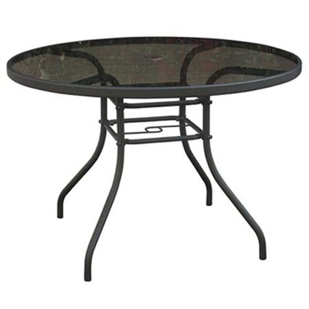 Courtyard Creations Tgs42hs Verona Glass Top Round Table