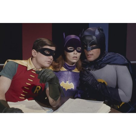 Yvonne Craig and Burt Ward and Adam West in Batman in costumes 24x36 Poster for $<!---->