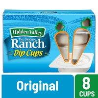 Hidden Valley Original Ranch Salad Dressing To Go Cups - 1.5 oz Each - 8 Count