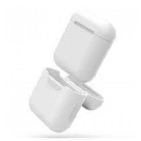 Sun Wireless Airpods Case Protective Silicon Cover, Compatible with Airpods Charging Case for Airpods 2 - White, 1 Compatible with Airpods Charging Case for Airpods 2. Sun Wireless Airpods Case Protective Silicon Cover
