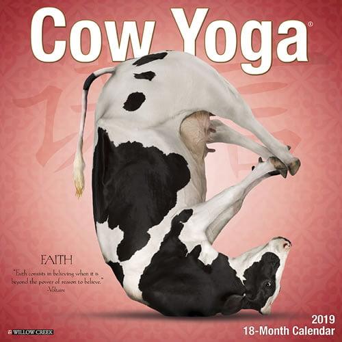 Willow Creek Press 2019 Cow Yoga Wall Calendar
