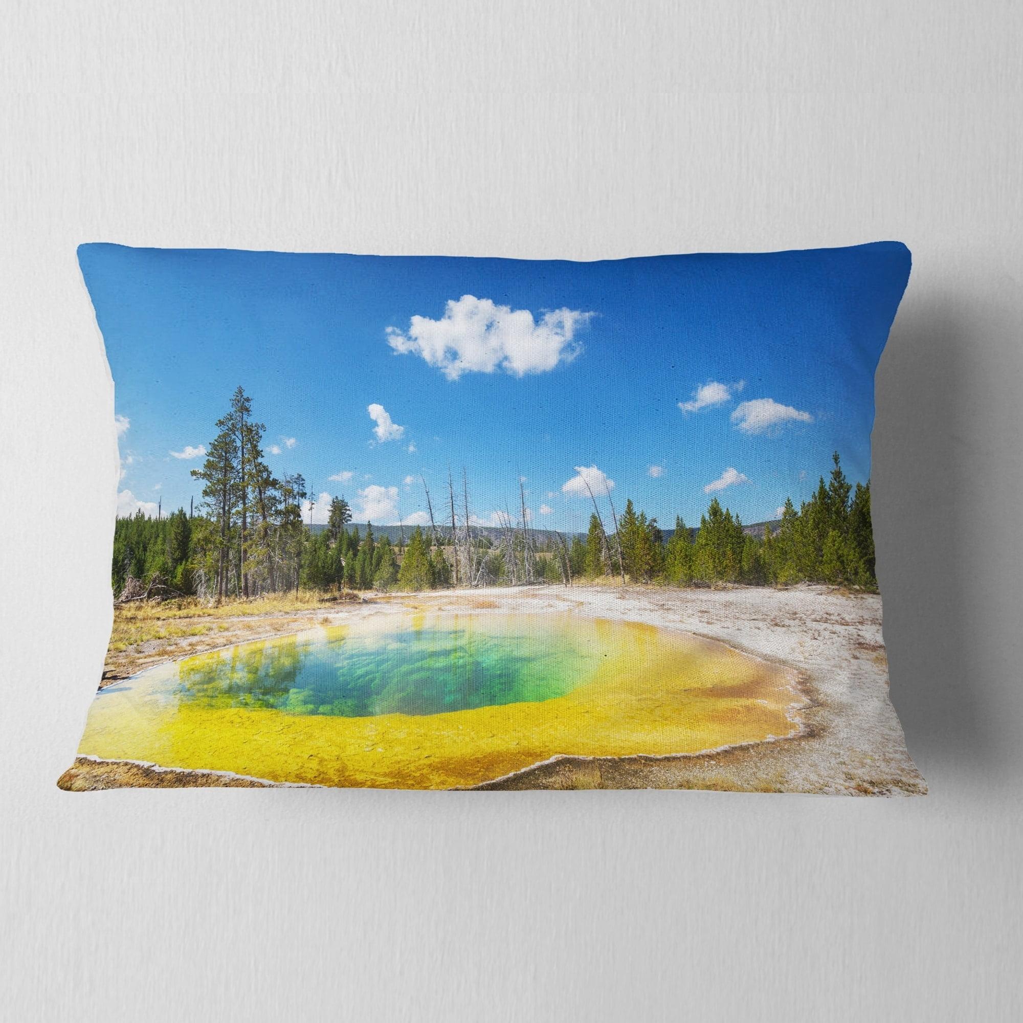 Design Art Designart Morning Glory Pool With Bright Sky Landscape Photography Throw Pillow Walmart Com Walmart Com