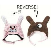 LCKDWLBU Bunny/Puppy Reversible Kid's Winter Hat Large
