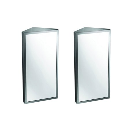 Stainless Steel Corner Wall Mount Medicine Cabinet Set of 2 Wall Cabinet Set