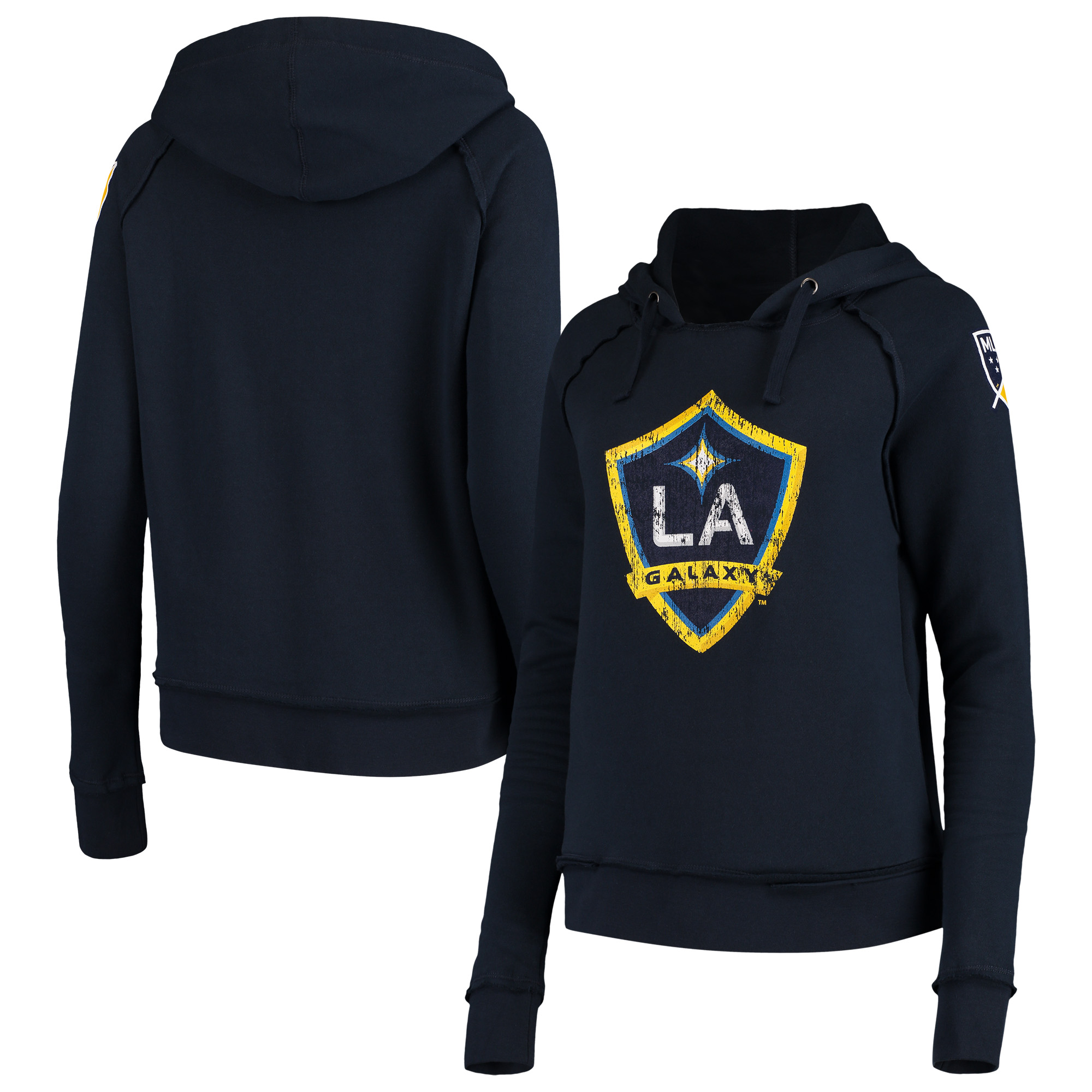 LA Galaxy 5th & Ocean by New Era Women's Brushed Fleece Pullover Hoodie - Navy