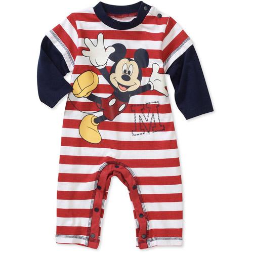 Disney Newborn Boys' Mickey Hangdown Romper
