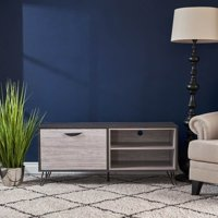 Veda  Two Toned Gray Oak Finished Faux Wood TV Stand