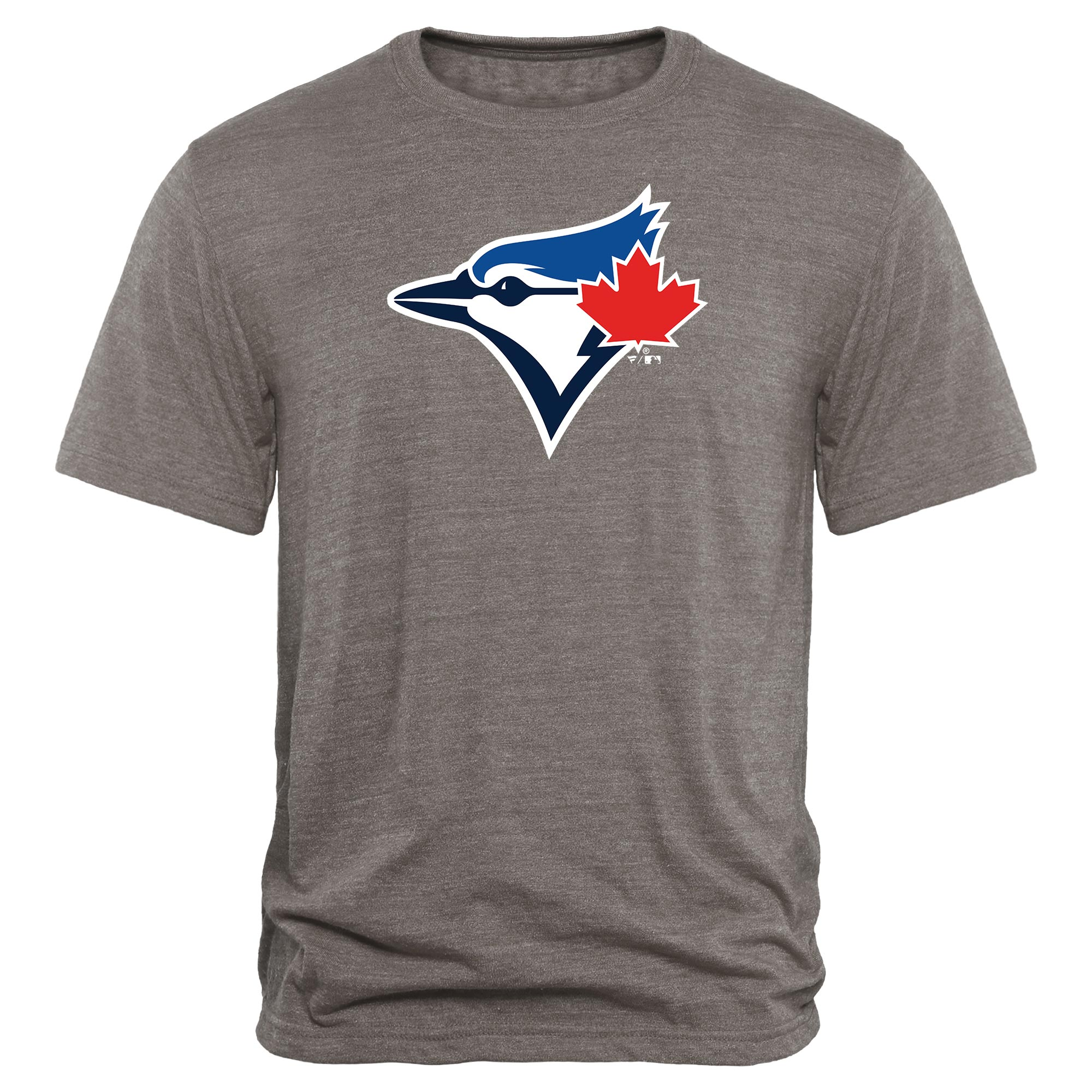 Toronto Blue Jays Rally Primary Logo Tri-Blend T-Shirt - Heathered Gray