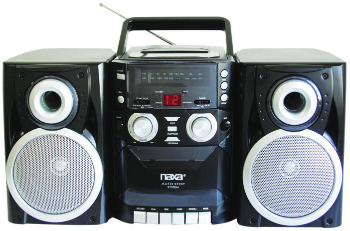 Naxa Npb-426 Mini Hi-fi System 16 W Rms Ipod Supported Black Cd Player, Cassette Recorder Am, Fm 2 Speaker[s]... by Naxa