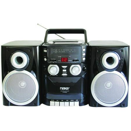 Naxa Npb-426 Mini Hi-fi System 16 W Rms Ipod Supported Black Cd Player, Cassette Recorder Am, Fm 2 Speaker[s]... by