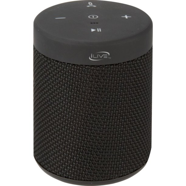 iLive ISBW10 Waterproof Fabric Wireless Bluetooth Speaker - Black