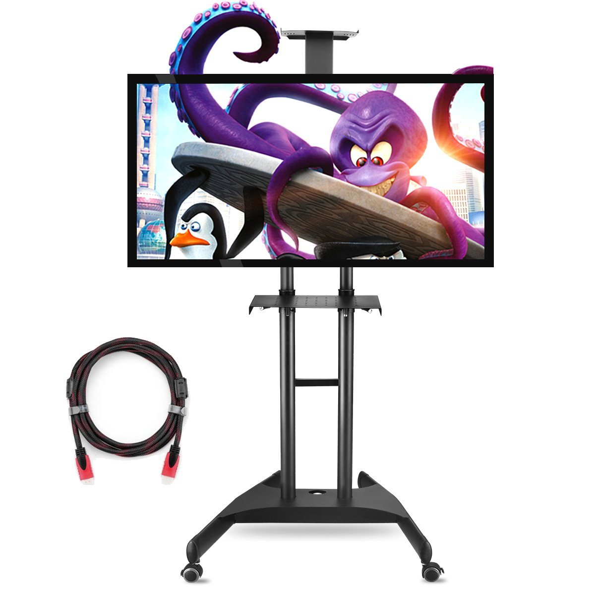 Suptek Universal Mobile TV Cart TV Stand with Mount for F...