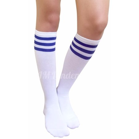 665780a35ef AM Landen Womens Stripe Knee High Socks Stripe Socks Cheerleader Socks  Uniform Socks (A.