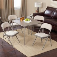 Meco Sudden Comfort Deluxe Double Padded Chair and Back 5 Piece Card Table Set Chicory by Padded Chairs
