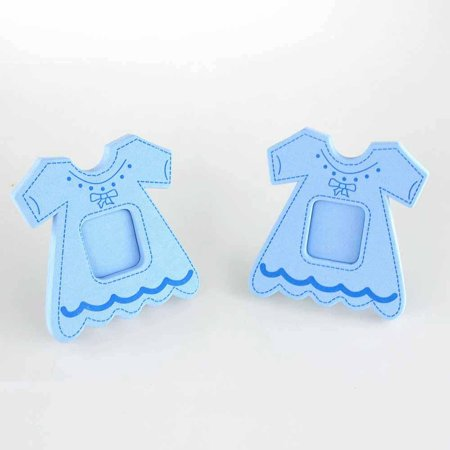 Dress Photo Frame Foam Decor, 3-1/2-Inch, Light Blue