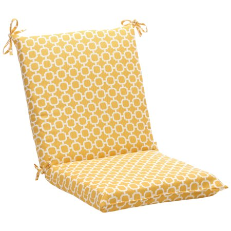 "36.5"" Eco-Friendly Recycled Square Outdoor Chair Cushion - Geometric Sunshine"