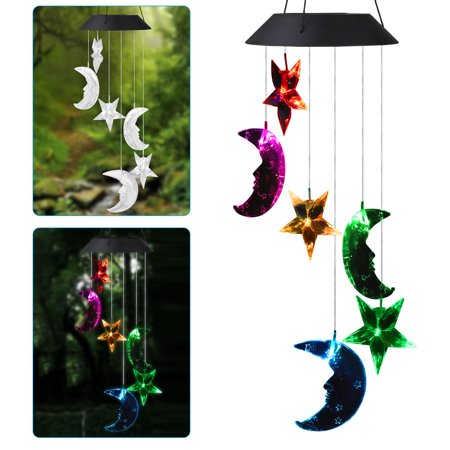 EEEKit Solar Powered Wind Chimes Outdoor, Color Changing LED Mobile Lamp Romantic Windchime Bell Light Waterproof Hanging Solar String Lights for Outdoor Indoor Gardening Home Yard Patio Decoration ()