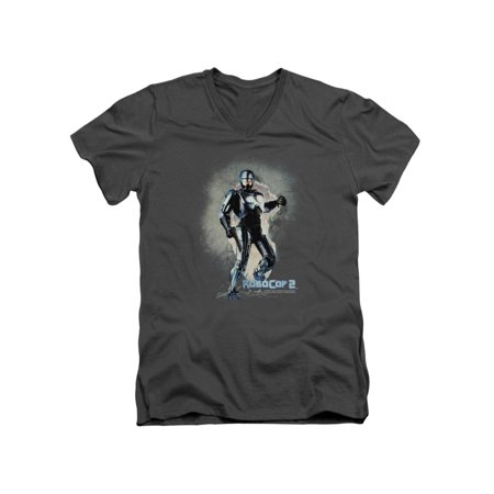 Robocop 2 Classic Sci-Fi Film Sequel Movie Poster Adult V-Neck T-Shirt - Adult Classic Movies