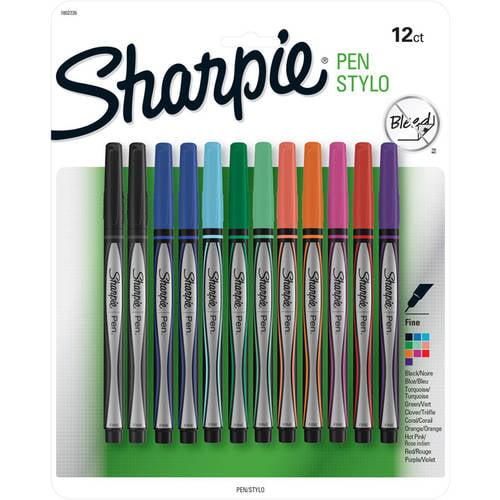 Sharpie Pens, Fine Point, Assorted Colors, 12pk