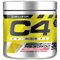 Cellucor C4 Original Pre Workout Powder, Sugar Free Preworkout Energy Supplement for Men & Women, 150mg Caffeine + Beta Alanine + Creatine, Strawberry Margarita, 30 Servings