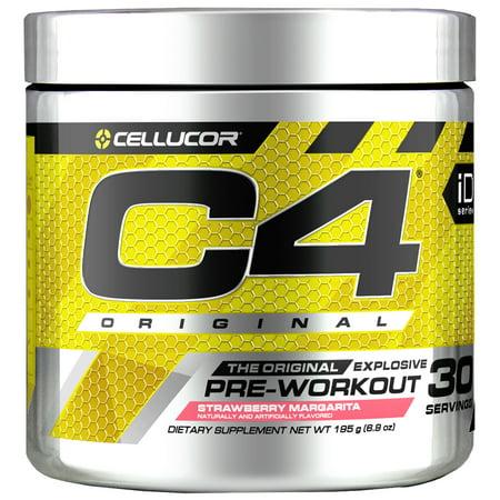 Cellucor C4 Original Pre Workout Powder, Strawberry Margarita, 30 (Best 21 Day Workout)