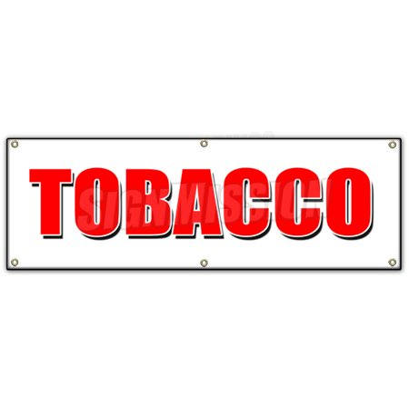 72  Tobacco Banner Sign Cigarettes Cigar Cigs Pipes Vape Smoke Tobacconist