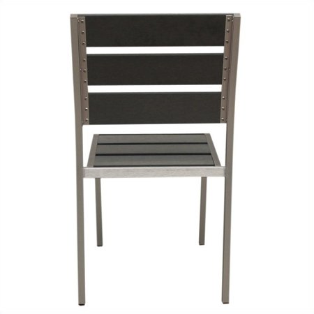 Boraam Fresca Side Chair in Solid Brushed Aluminum (Set of 4) - image 8 of 9