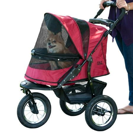 Pet Gear Lightweight No Zip Dog Jogging Stroller up to 75 Pounds, Rugged