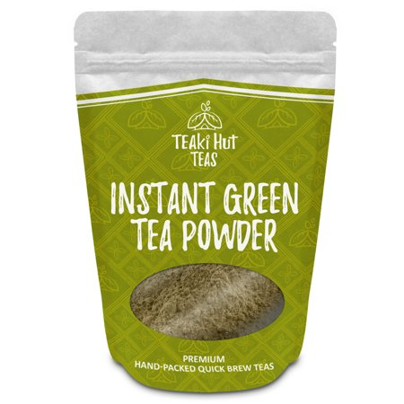 Green Instant Tea (TEAki Hut Instant Green Tea Powder 4oz (200 Servings) | Mixes With Hot Or Cold Water | No Brewing Needed | Loaded With Antioxidants EGCG | Healthier Than Coffee | Delicious Tea)