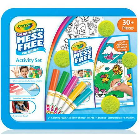 Crayola Color Wonder Mess-Free Activity Set, 30+ Pieces - Walmart.com