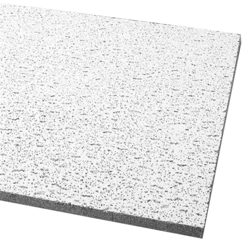 Armstrong Acoustical Ceiling Panel 756A Fissured Square Lay In, 24X24X5/8 In., 16 Per Case