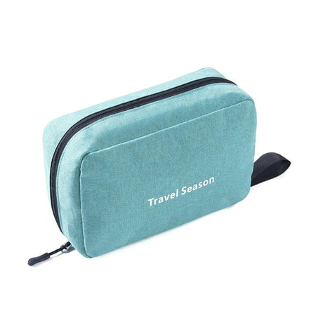 Portable Waterproof Toiletry Bag Polyester Fold Travel Cosmetic Makeup Organizer Wash Shaving Zipper Suspension Bag accessorie