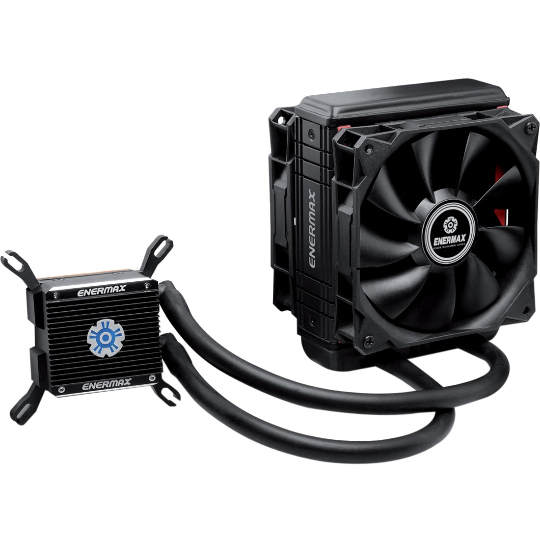 "Enermax Liqtech 120x Elc-lt120x-hp Cooling Fan/radiator - 2 X 4.72"" - 2500 Rpm - Twister Bearing - Socket T Lga-775, Socket H3 Lga-1150, Socket H2 Lga-1155, Socket H Lga-1156, Socket B (elc-lt120x-hp)"