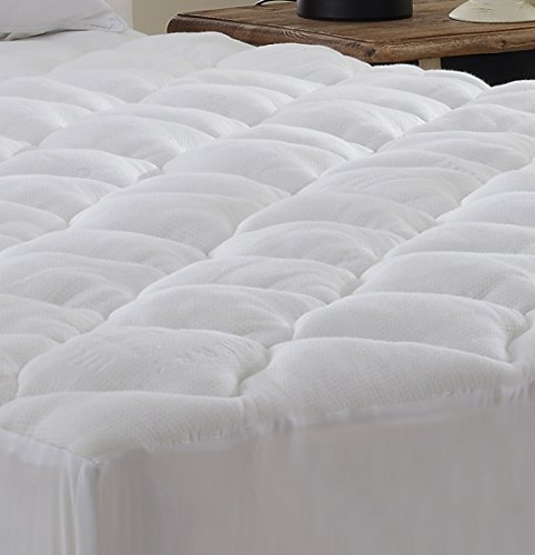 High Quality Extra Plush Bamboo Fitted Mattress Pad  Topper King by BlowOut Bedding
