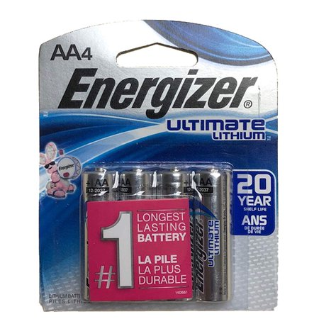 Energizer Ultimate Lithium Batteries Batteries AA 4 ea, Whether used in a wireless mouse, for high-powered LED lighting, a laser level or stud.., By