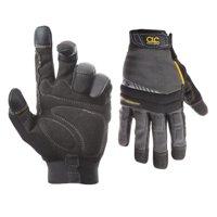 Custom Leathercraft Black and Gray Large Handyman Gloves
