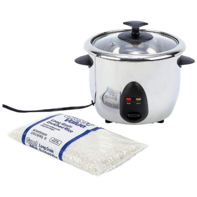 Precise Heat 1qt Stainless Steel Inside and Out Rice Cooker