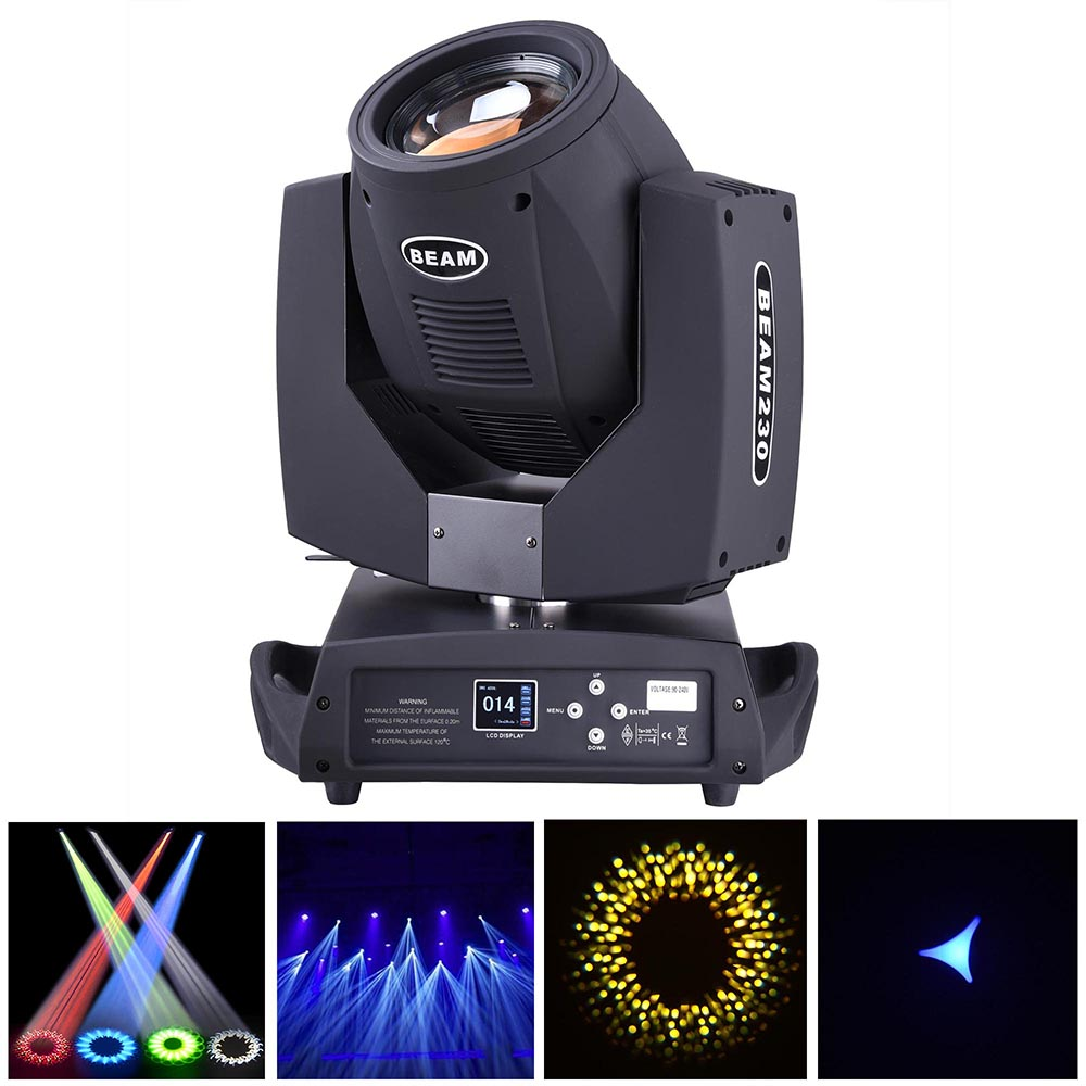 LED Moving Head Light Disco Stage Flood Beam Party Light DMX-512 by Yescom
