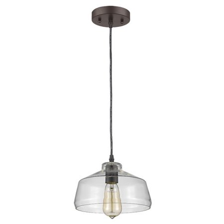 CHLOE Lighting DICKENS Industrial-style 1 Light Rubbed Bronze Ceiling Mini Pendant 9