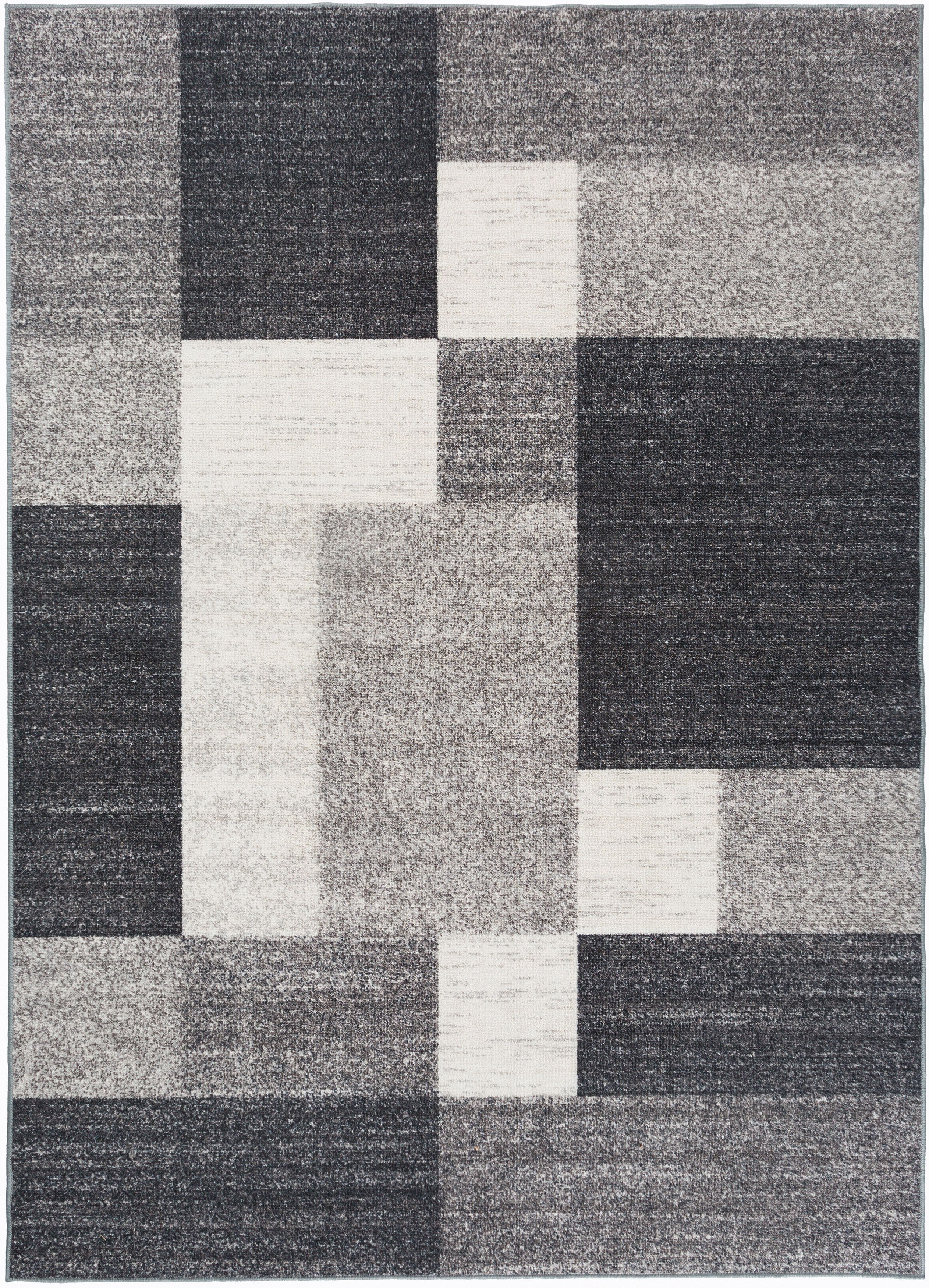 World Rug Gallery Contemporary Modern Boxes Area Rug Or