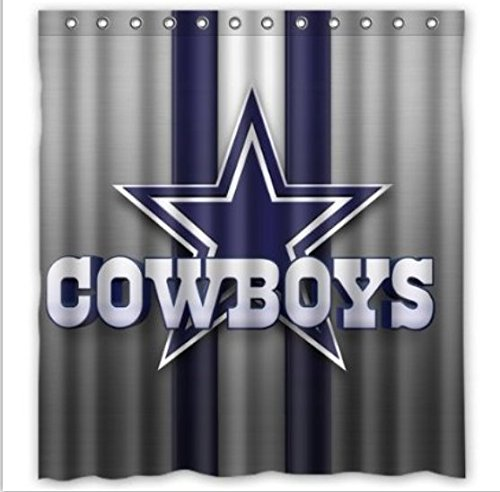 DEYOU Dallas Cowboys Shower Curtain Polyester Fabric Bathroom Shower Curtain Size 66x72 inches