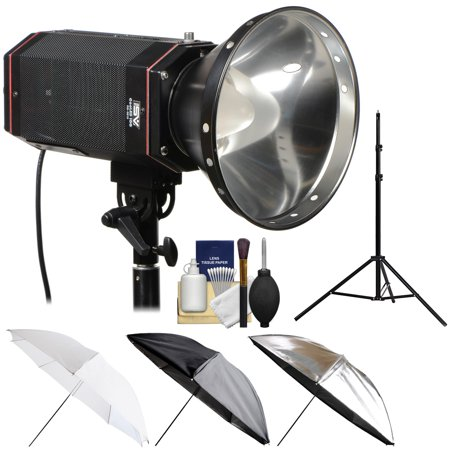 Smith-Victor CooLED100 100W Portable LED Studio Light with Light Stand + 3-in-1 Umbrella