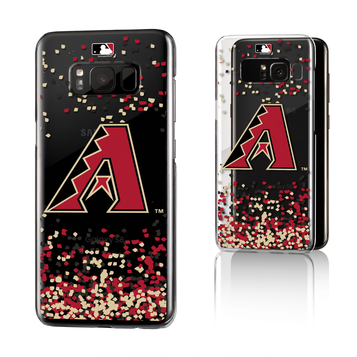 Arizona Diamondbacks D-Backs™ Confetti Clear Case for Galaxy S8