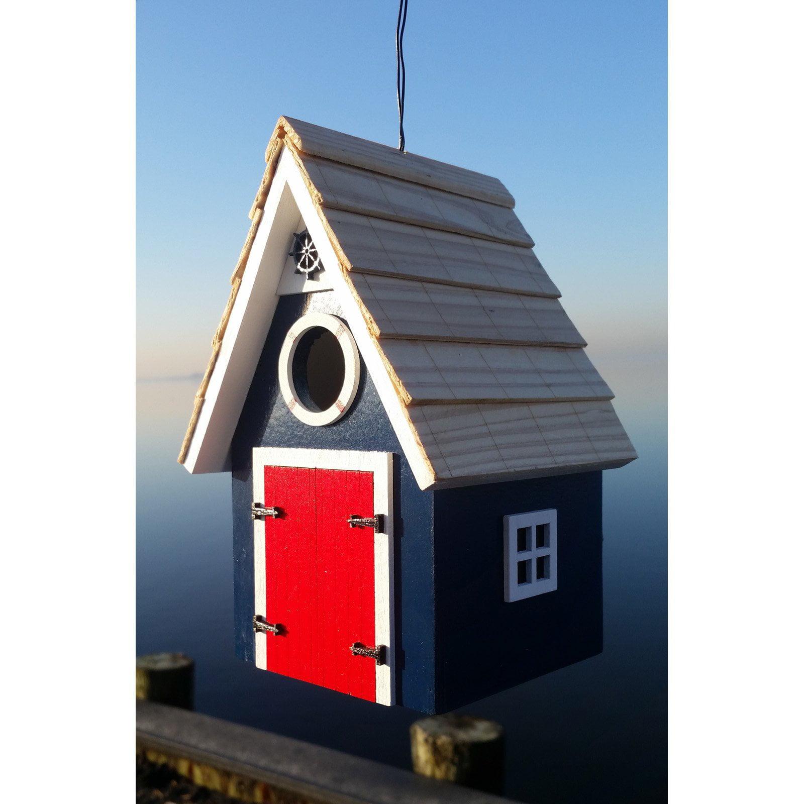 Home Bazaar Blue Dockside Cabin Bird House