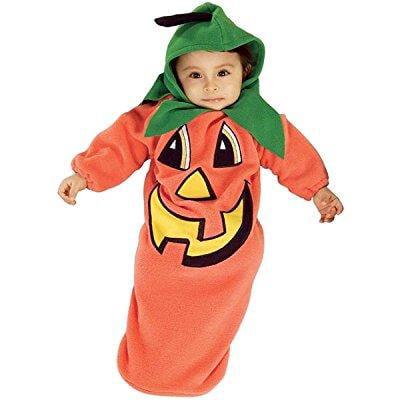 pumpkin baby bunting costume: baby's size birth - 9 months