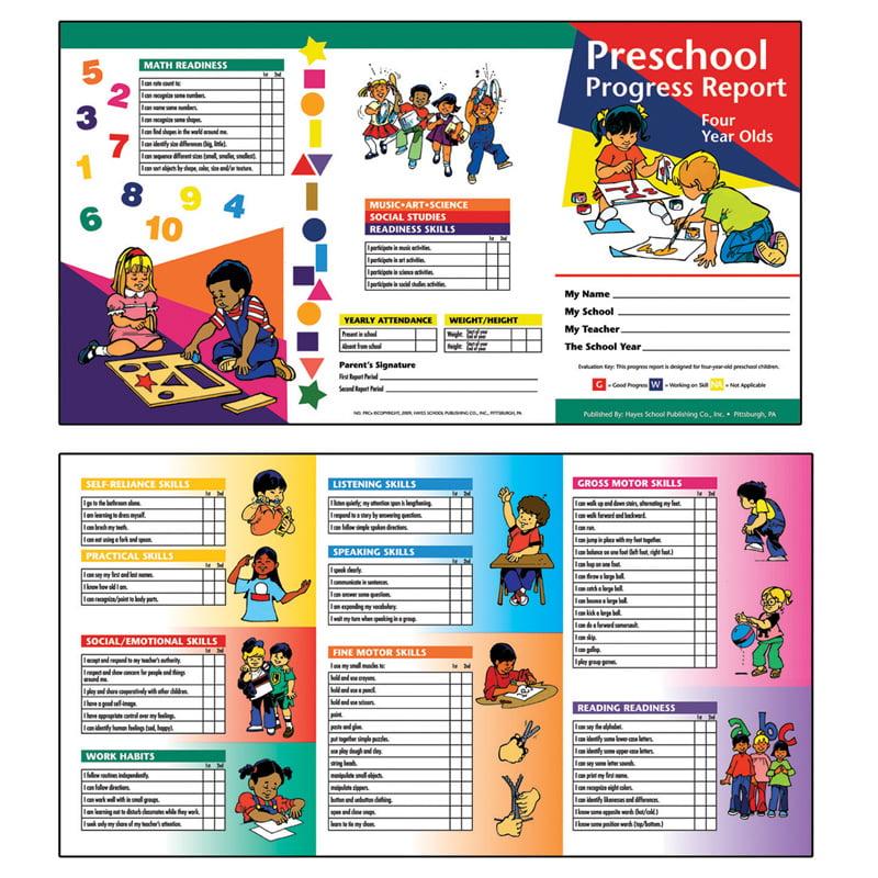 Preschool Progress Report 10Pk Age4 - image 1 of 1