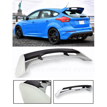 Ford Focus Spoiler (Extreme Online Store for 2013-Present Ford Focus 5Dr Hatchback | EOS RS Style ABS Plastic Primer Black Rear Roof Wing)