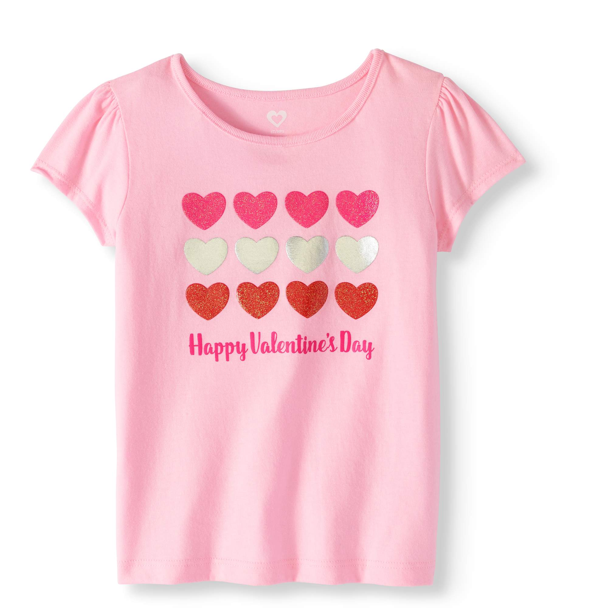 Valentine S Day Toddler Girl Short Sleeve Graphic T Shirt