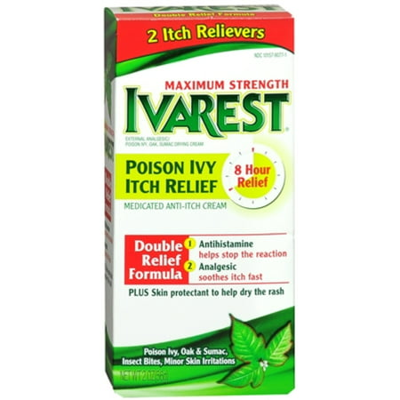 Ivarest Poison Ivy Itch Relief Cream Maximum Strength 2 oz (Pack of 2)