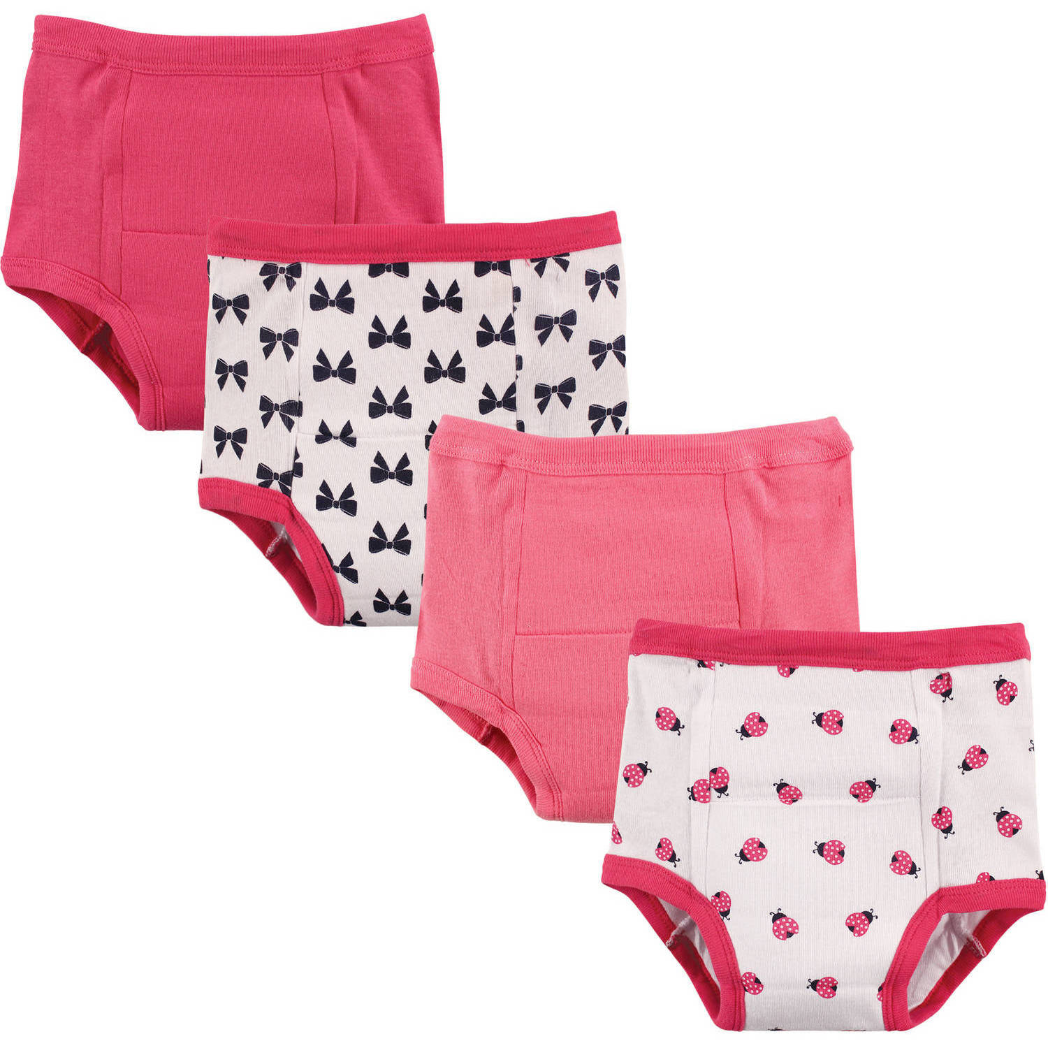 Luvable Friends Baby Boy and Girl Training Pants, 4 Pack